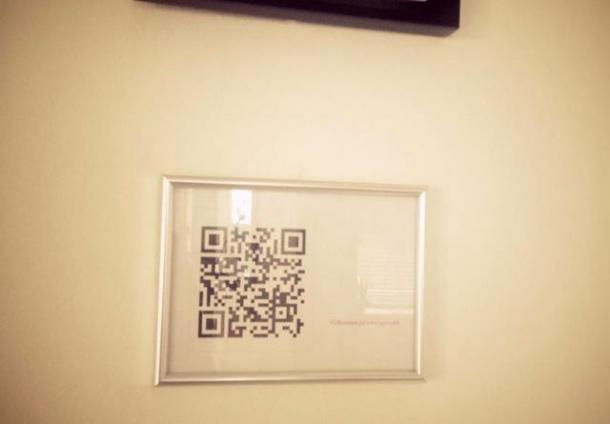 QR Wifi Code in Picture Frame