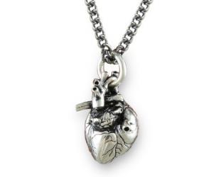 Anatomically Correct Heart Necklace