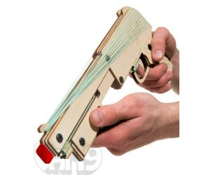Rapid Fire Pump-Action Rubber Band Gun