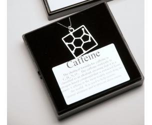 Caffeine Molecular Structure Necklace