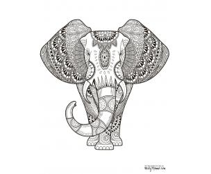 Mandalas, Animals, and Paisley Patterns Adult Coloring Book