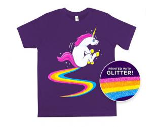Glitter Rainbow Unicorn Poop Shirt