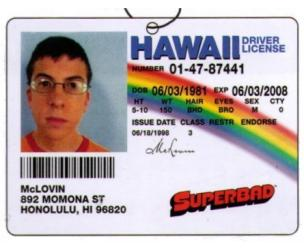 Superbad McLovin License Air Freshener