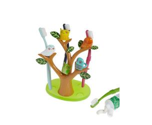 Owls In A Tree Toothbrush Holder