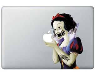 Zombie Snow White Macbook Decal