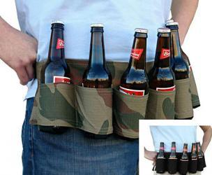 6-Pack Beer Holster Belt