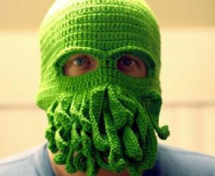 Cthulu Knitted Ski Mask