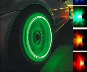Glowing LED Tire Valve Caps