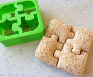 3 Piece Sandwich Crust Cutters: Puzzle Pieces, Elephants and Penguins