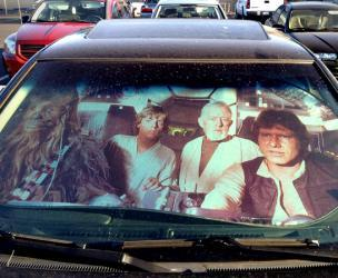 Star Wars Millenium Falcon Sun Shade