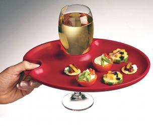 Appetizer & Wine Glass Plates