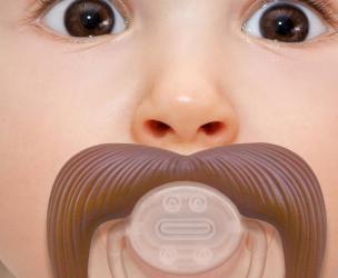 Baby Cowboy Mustache Pacifier