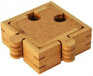 Bamboo Puzzle Piece Coasters