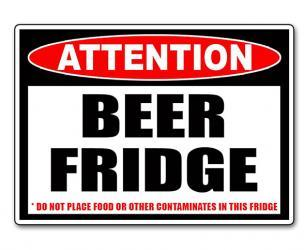 Beer Fridge Only Sticker