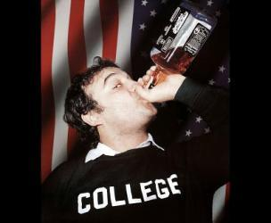 John Belushi Pounding Whiskey in Animal House Poster