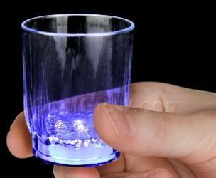 Blue LED Shot Glass