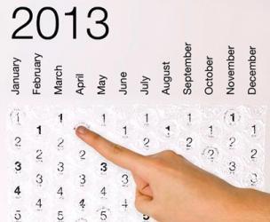 2013 Bubble Wrap Calendar