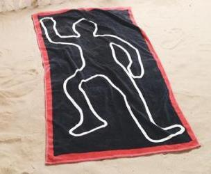 Dead Body Beach Towel