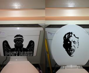 Dr. Who Weeping Angel Toilet Decal
