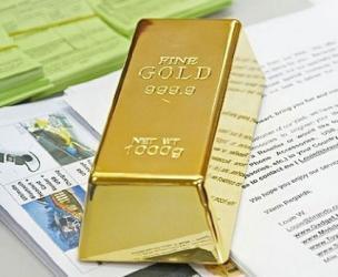 Fake Gold Bullion Bar Doorstop