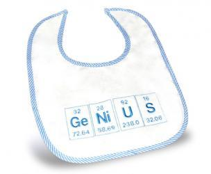 GeNius Periodic Elements Baby Bib
