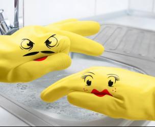 Hand Puppet Dish Gloves