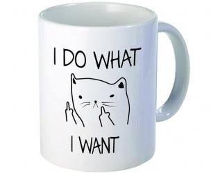 I Do What I Want Middle Finger Coffee Mug