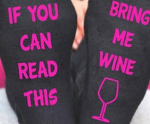 """If You Can Read This... Bring Me Wine"" Socks"