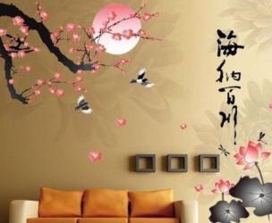 Japanese Lotus Flower Wall Mural
