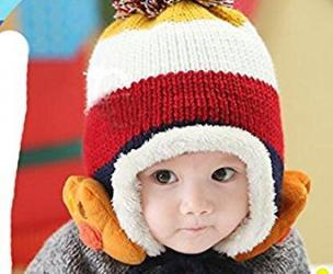 Kids Knitted Winter Beanie w/ Earflap