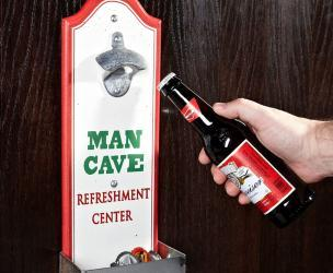 Beer Bottle Opener With Cap Catcher