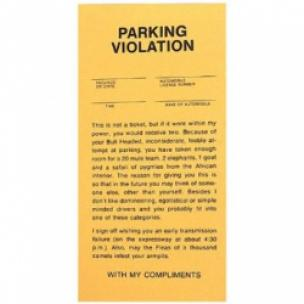 Prank Parking Tickets