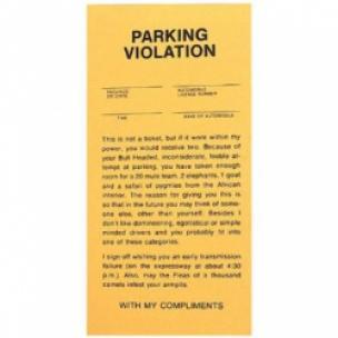 Prank Parking Tickets