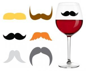 Reusable Mustache Drink Markers