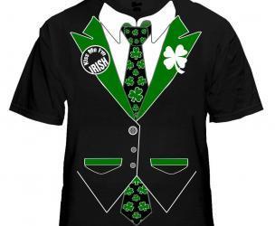 St. Patrick's Day Shamrock Tuxedo T-Shirt