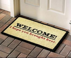 Hope You Brought Beer Welcome Mat