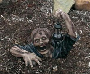 Solar Powered Garden Zombie Light